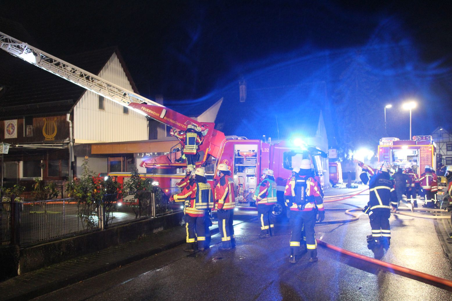 Dachstuhlbrand in Greffern
